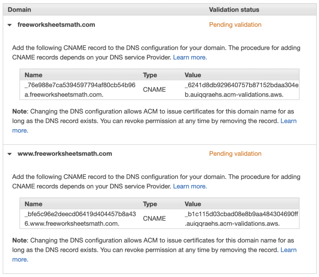 AWS Certificate Manager