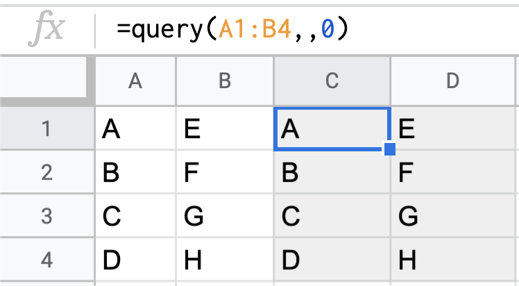 QUERY function